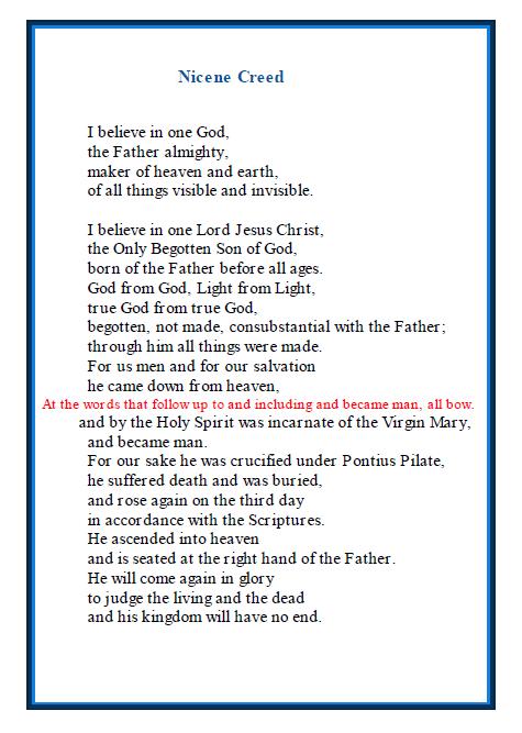 Nicene Creed - Prayer Cards