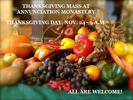 Thanksgiving Day Eucharist - All are Welcome!