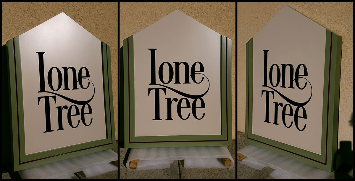 Lone Tree Cabin Sign