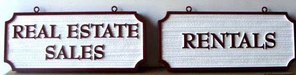 C12467 - Carved and Sandblasted HDU Real Estate Signs