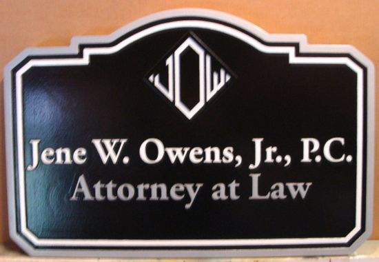 A10225 - Carved HDU 2.5-D Attorney-at-Law Sign