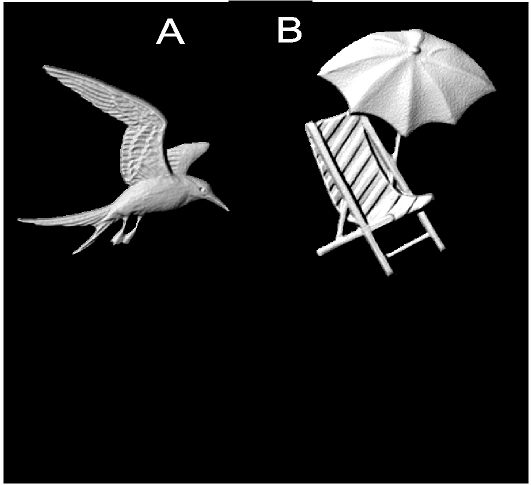 L22052 - Carved 3-D Wood Appliques ( Seagull in Flight, Beach Chair with Umbrella)