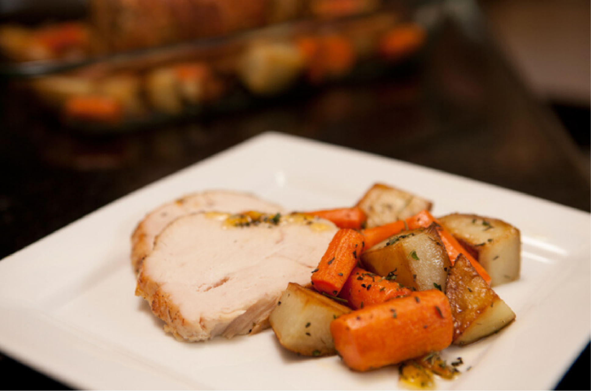 Recipe of the Month: Orange Glazed Turkey with Potatoes & Carrots