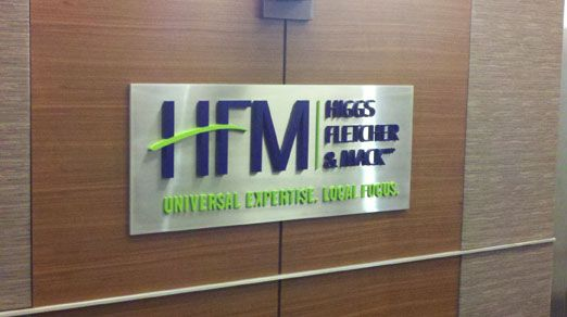 Panel Reception Sign with Dimensional Logo