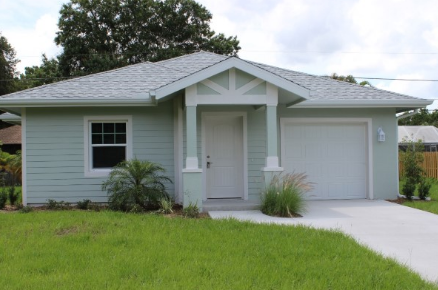 A home built by Habitat for Humanity of Florida residents.