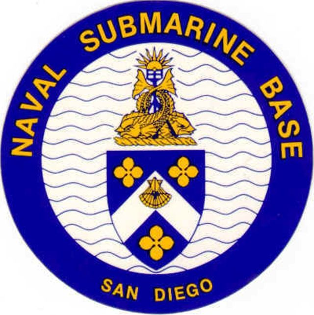 JP-2040 - Carved Plaque of Seal  of  Navy Submarine Base San Diego, Artist Painted