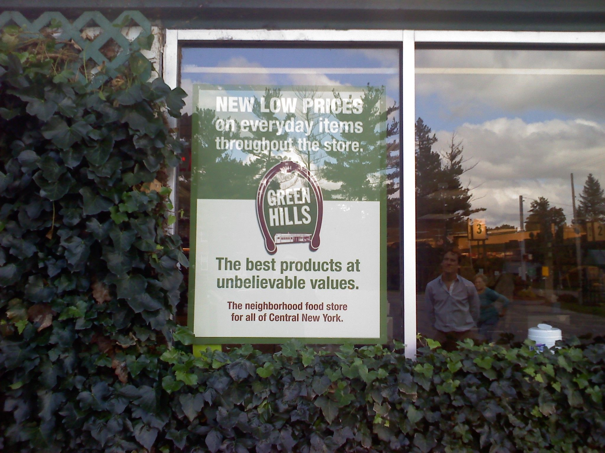 Green Hills Window signs