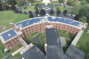 Solar Panels on Felician Hall at Villa Maria