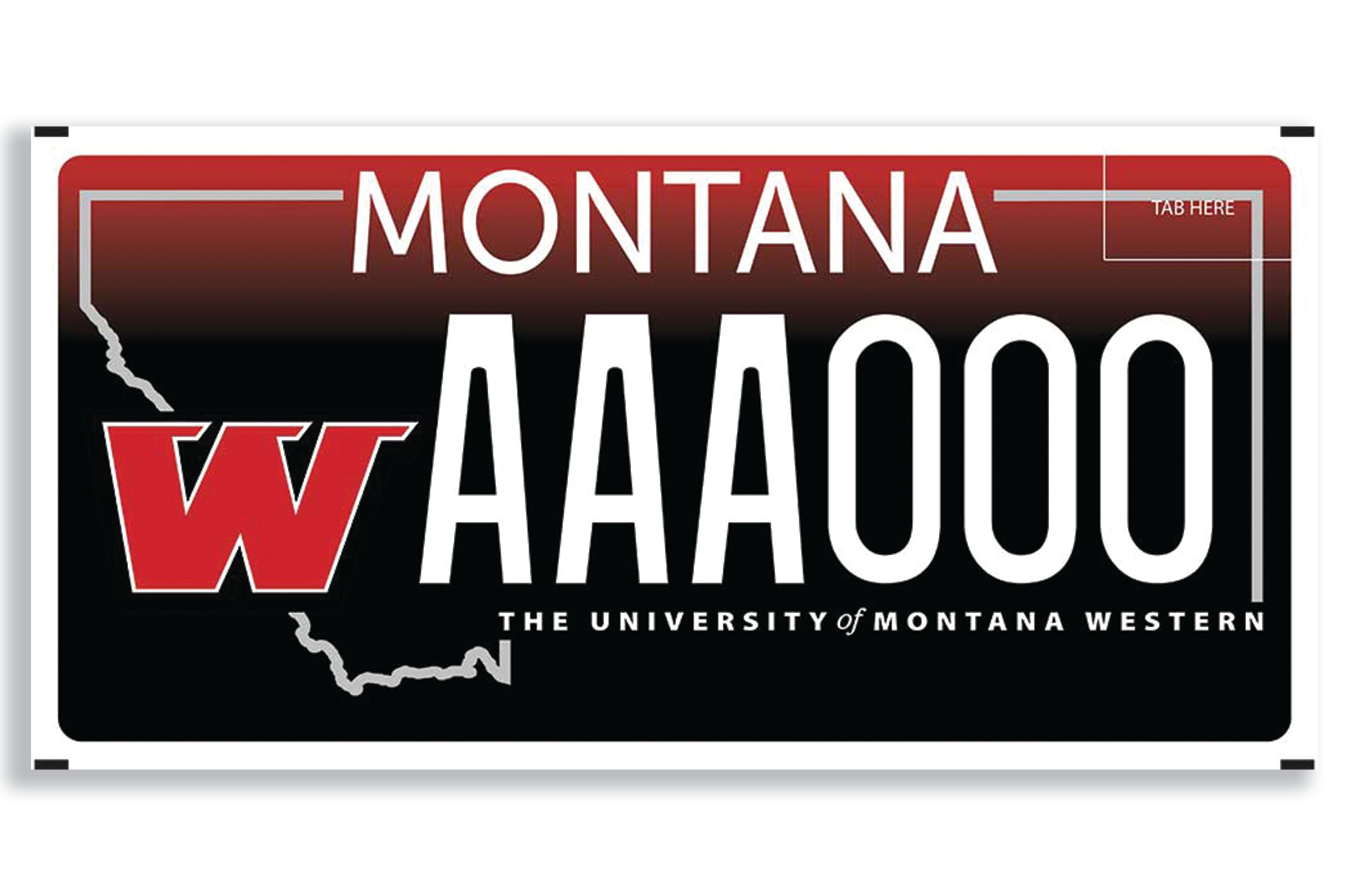 Montana Western License Plates Support Our Students