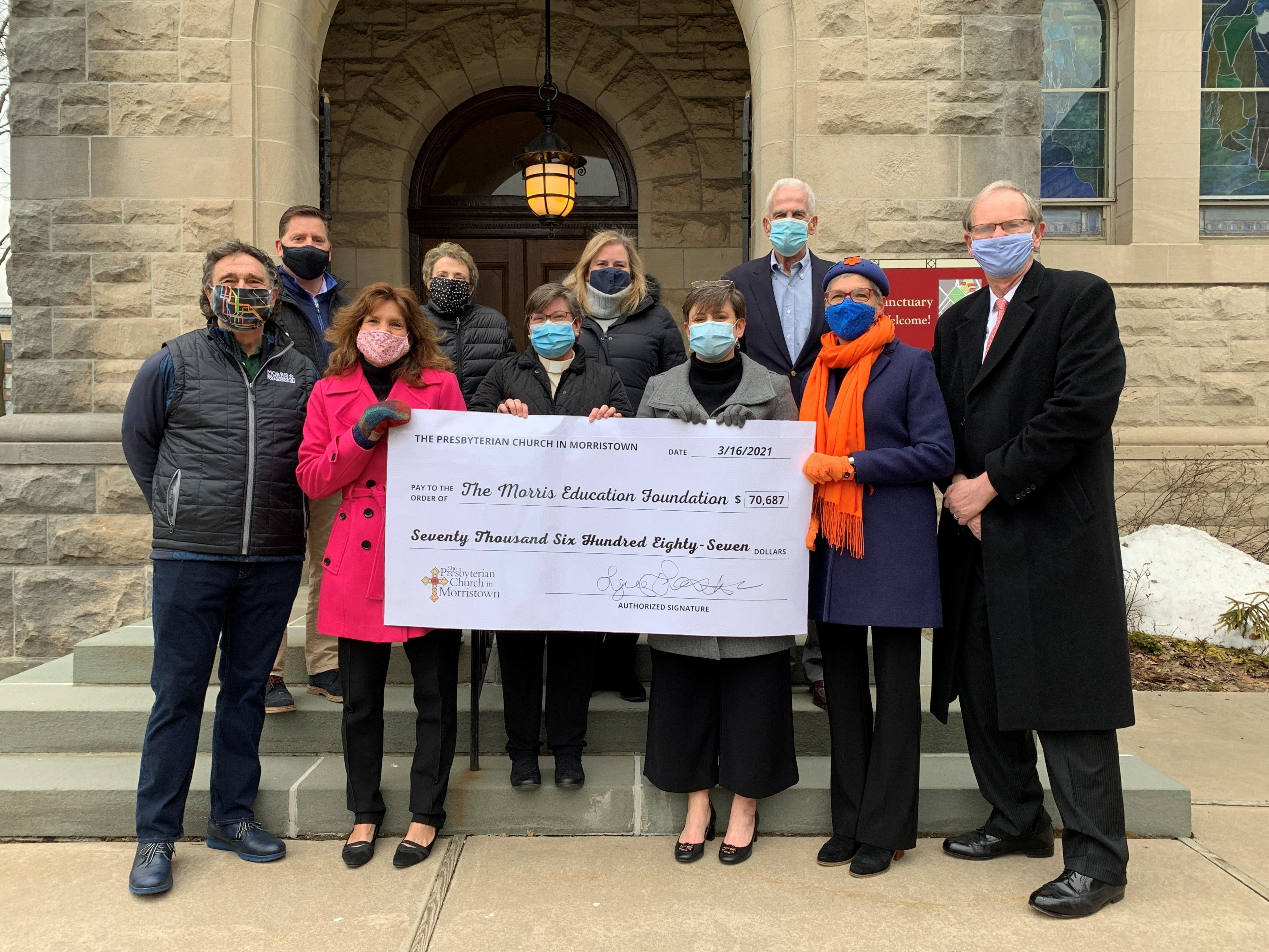 Presbyterian Church in Morristown Donates $70K to Morris Educational Foundation
