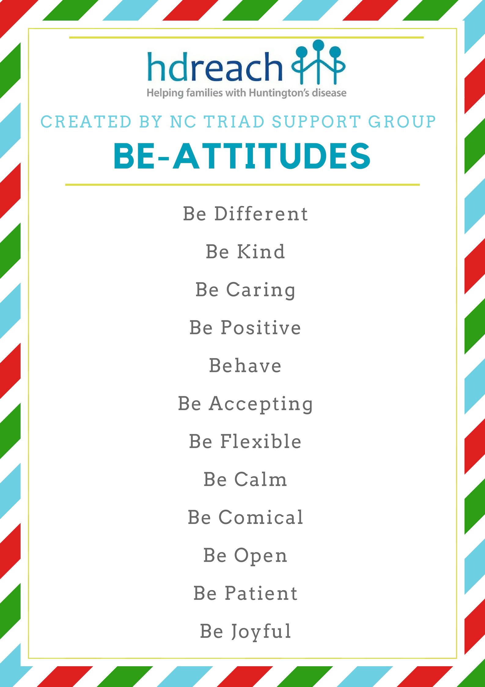 Triad Support Group Creates Be-Attitudes