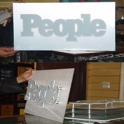 3D SIGN WITH STANDOFFS