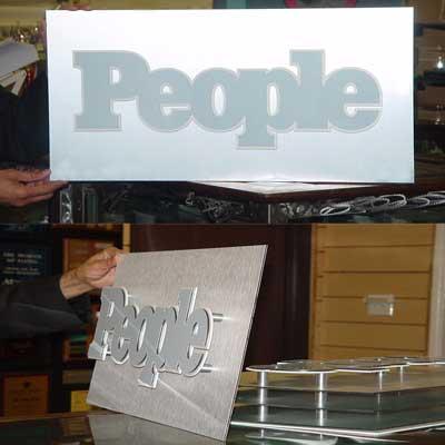 3D SIGN WITH STANDOFFS