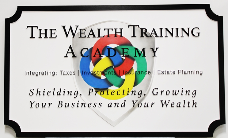 C12098 - Carved 2.5D Multi-Level  Sign for the The Wealth Training Academy