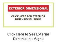 Exterior Dimensional Signs Gallery