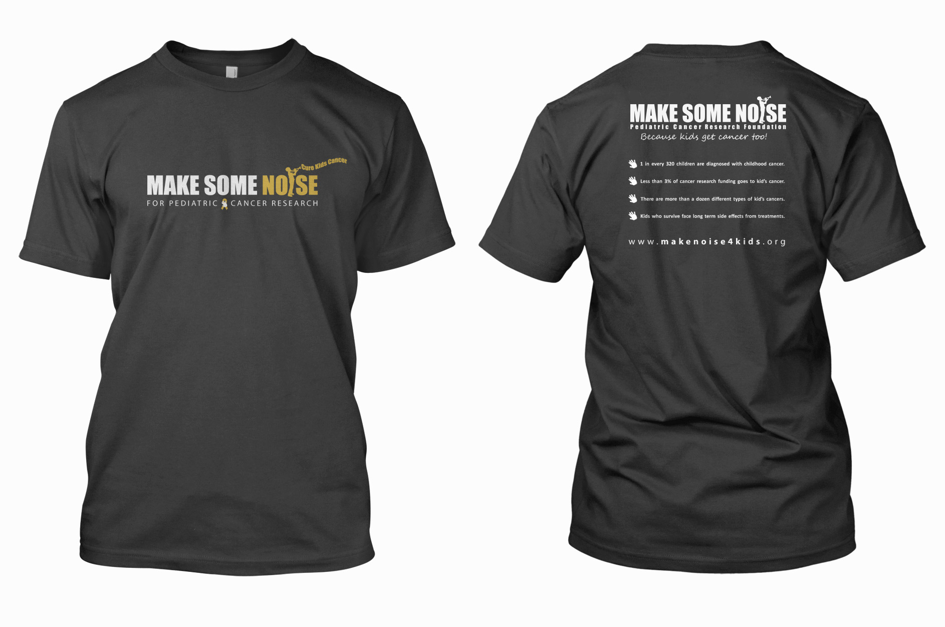Make Some Noise T's in Grey
