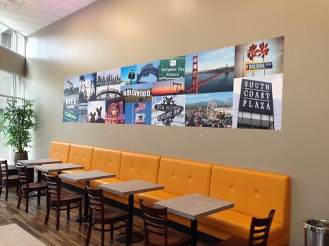 Restaurant vinyl wall graphics Orange County