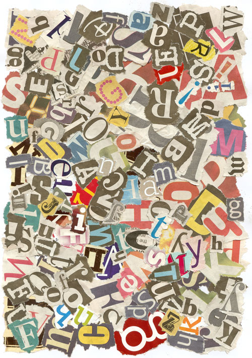 Collage Letters Wallpaper