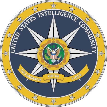 U30387 - US Intelligence Community Seal Carved Wood Plaque
