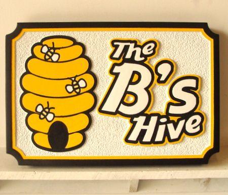 O24750- Bee Hive HDU Farm Sign