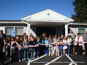 Ribbon Cutting at Cheryl's Lodge