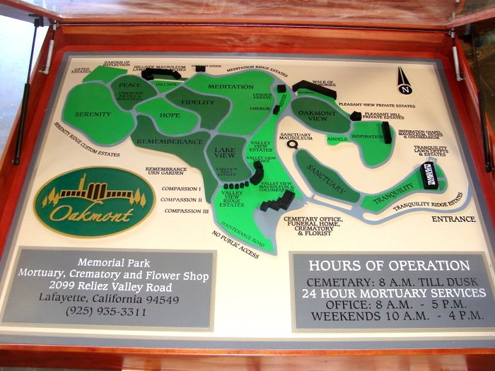 GC16400- Cemetery 3D Carved Map Sign & Display