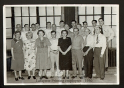 Lafayette Printng Employees 1950