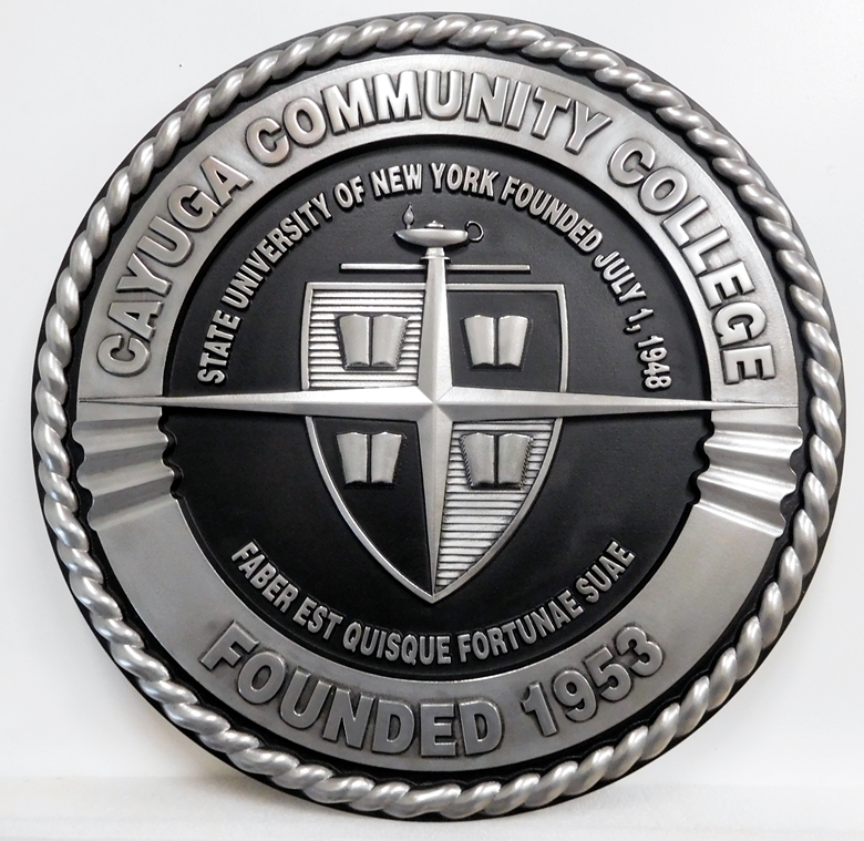 EA-6310 - Seal of Cayuga Community College Mounted on Sintra Board