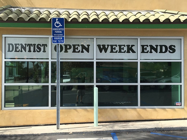 Window graphics for dental offices in Orange County