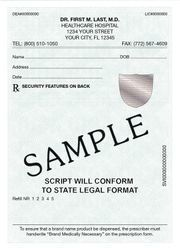 Tamper proof prescription pads with security hologram