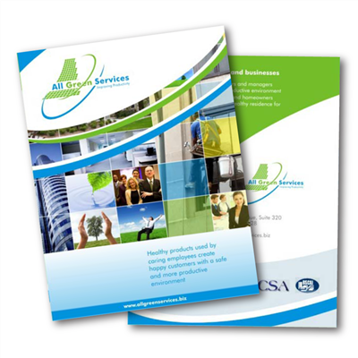 8 1/2 x 11 DOUBLE-SIDED COLOR FLYERS ON COVER
