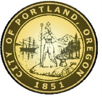 DP-1880 - Carved Plaque of the Seal of the City of Portland,Oregon,  Artist Painted