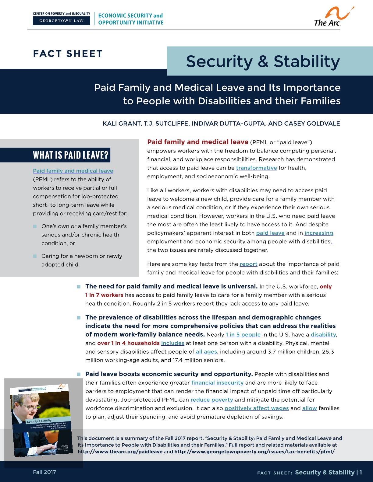 Paid Family and Medical Leave and Its Importance to People with Disabilities and their Families