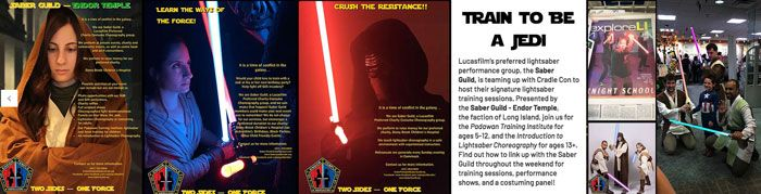 Saber Guild - Endor Temple will train you to be a Jedi! Star Wars Light Sabers!