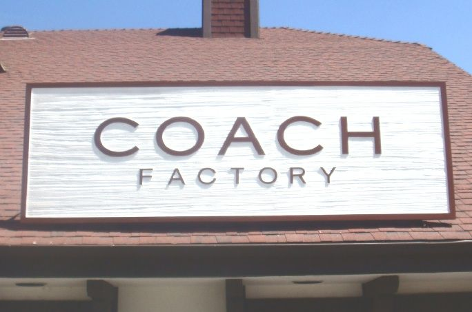 """SA28716 -Very  Large Commercial Roof Sign for """"Coach Factory"""""""