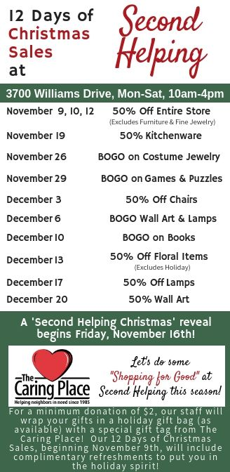 Second Helping Hosts Holiday Events and Sales for First Time