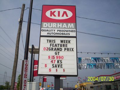 Kia Pylon Sign