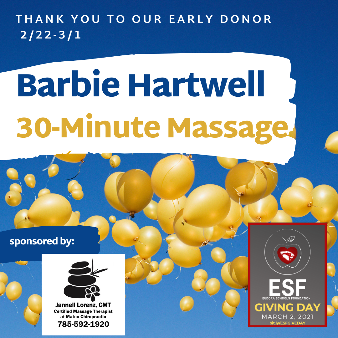 Thank you to our Early Donors - 30 Minute Massage