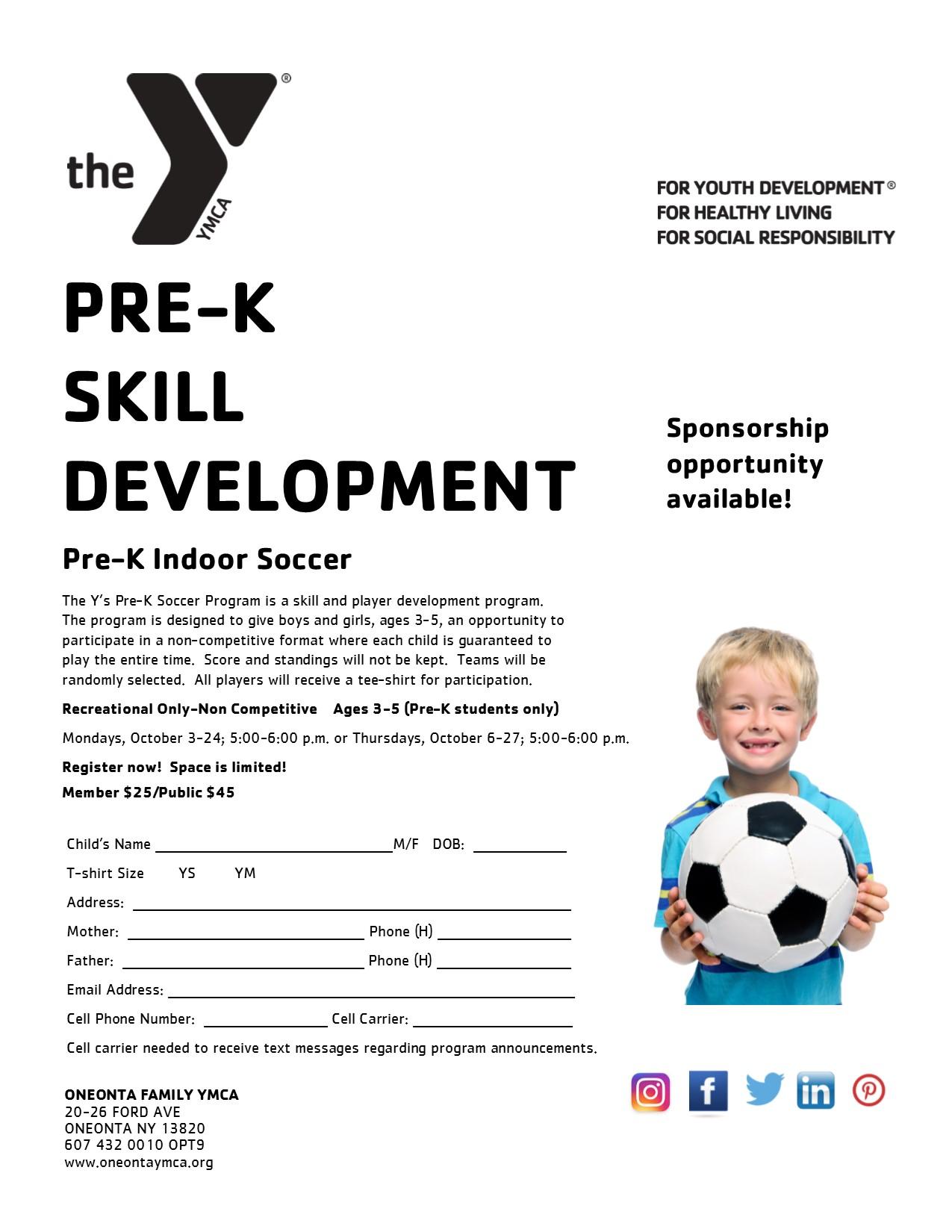 Pre K Soccer