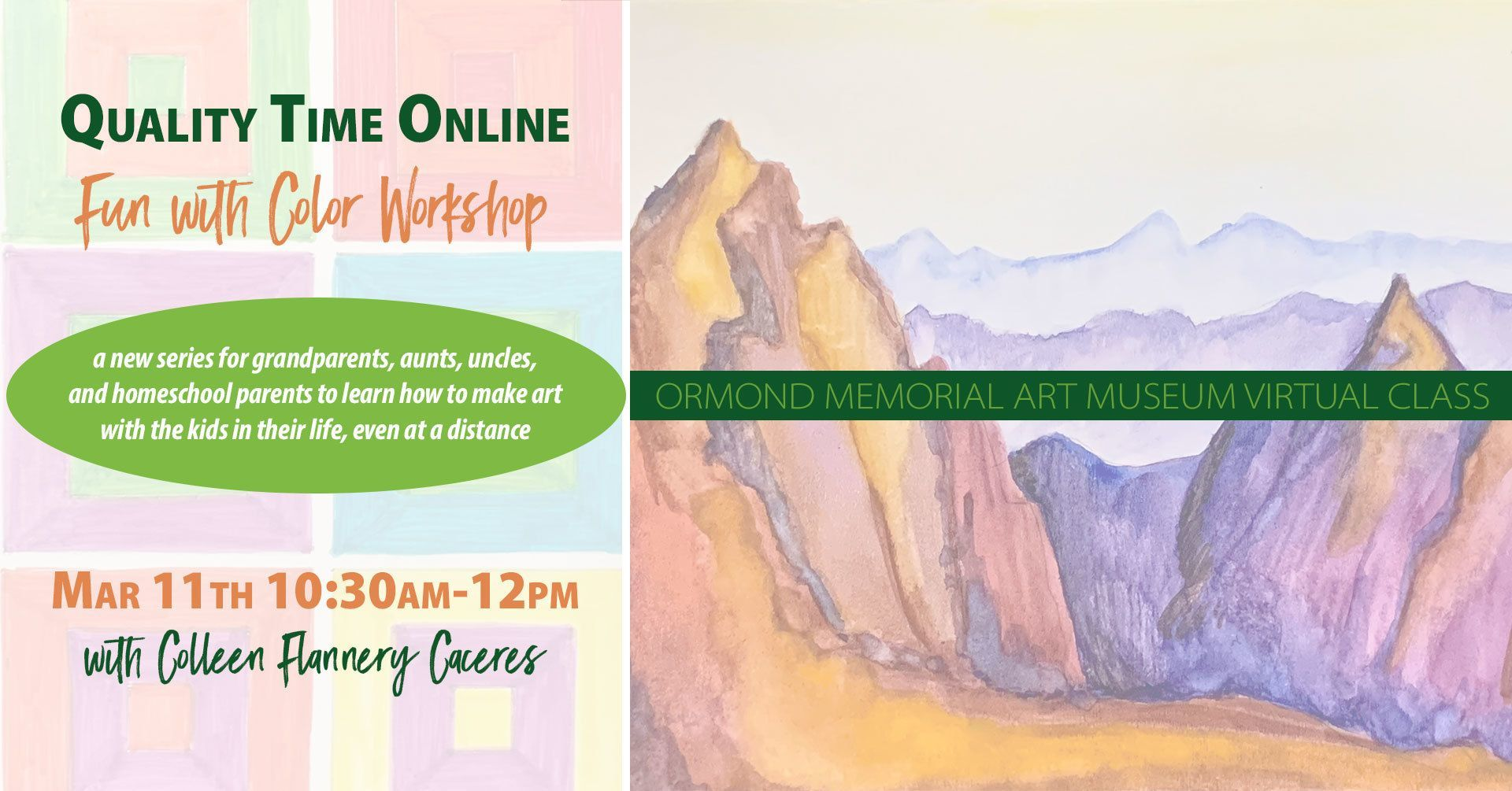 Fun with Color: A Quality Time Online Workshop
