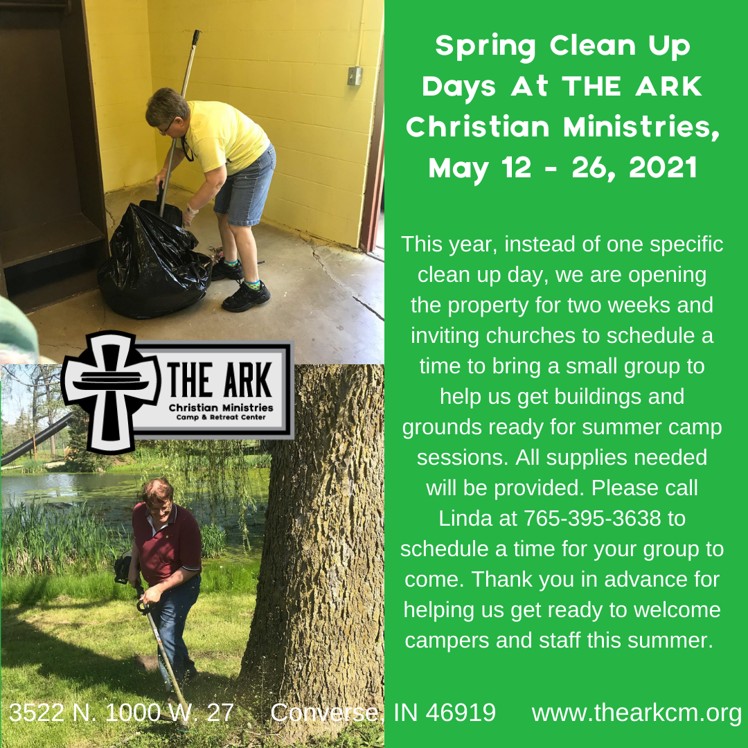 Spring Clean Up Days: May 12 - 26