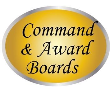 MP-3000 -  Custom Carved Wood and HDU Chain-of-Command and Award Boards with Insignia and Photo Frames