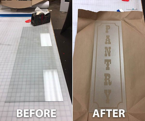 Before and After: Glass Etching