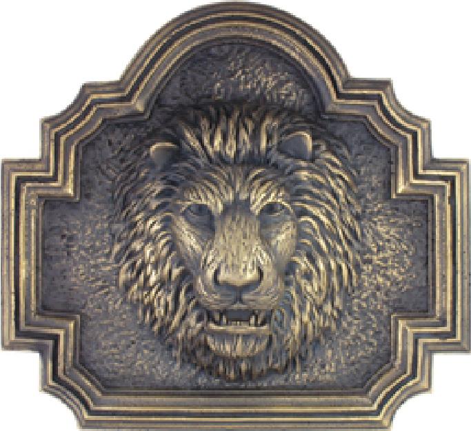 M7059 - Bronze  Lion's Head Plaque