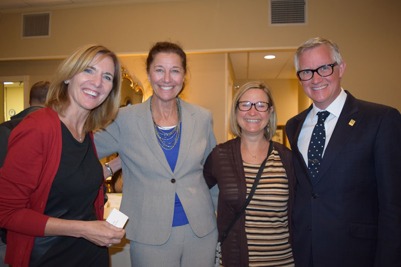 SUNY Sullivan trustees, Dr. Theresa Hamlin, Dr. Nancy Hackett and SUNY Sullivan President Jay Quantance & Heather Quantance
