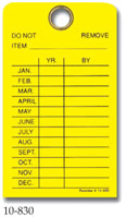 Monthly Equipment Inspection Tag