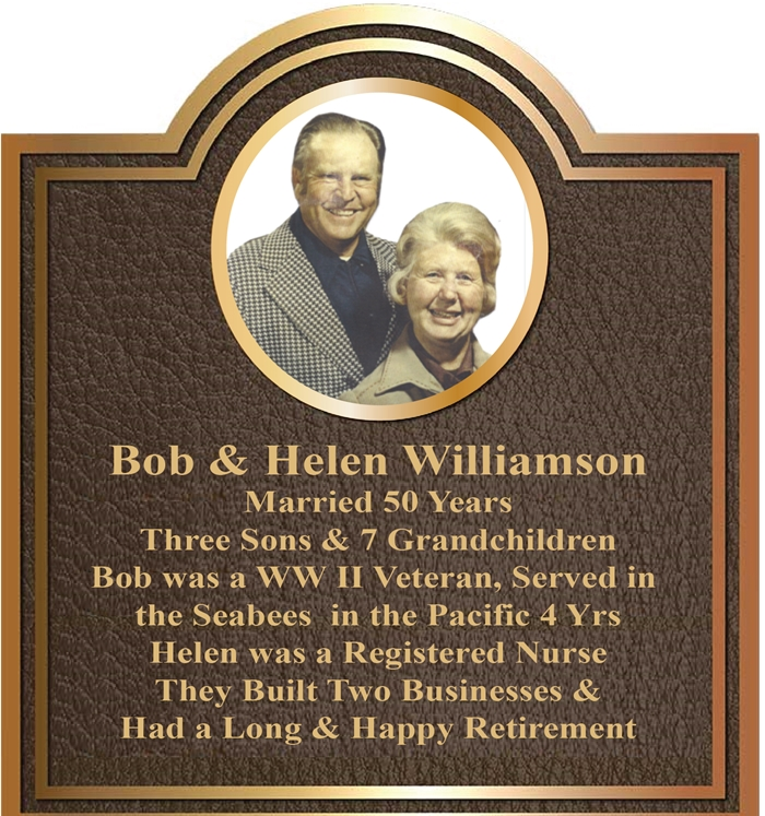 MB2388 - Brass-Plated  Plaque with Photo of Couple on 50th Wedding Anniversary