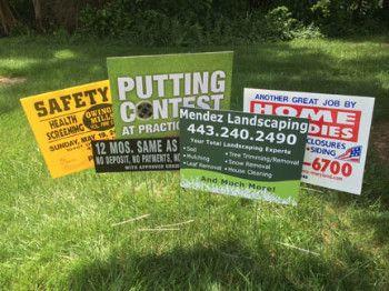 coroplast signs, toronto coroplast sign printing, corrugated plastic signs