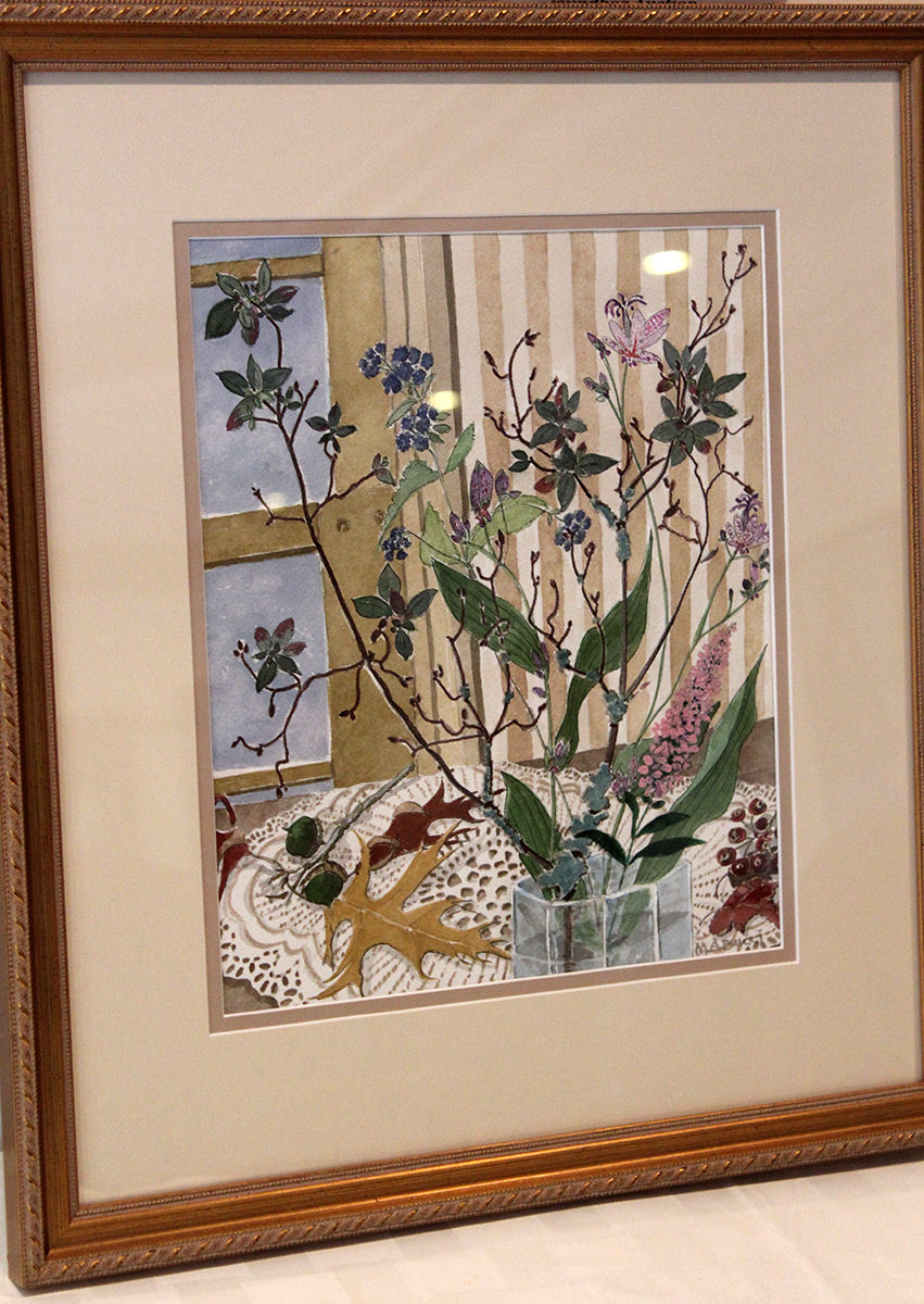 """A Collection from My Yard"" Watercolor - Donated by Mary Ann Bucci"