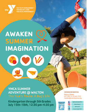 Walton YMCA K-4 Summer Adventure 2019  One Week of Summer FUN!